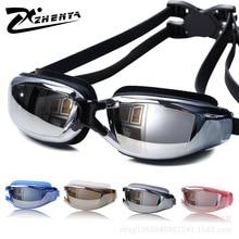 Гальванического покрытия УФ Водонепроницаемый Анти-туман Плавание носить очки плавание, дайвинг водные очки Gafas регулируемые Плавание ming очки Для женщин Для мужчин