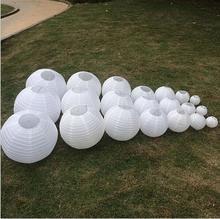 5pcs/lot White paper lanterns 35cm-40cm Round paper lanterns lamps festival wedding decoration party supplies lantern
