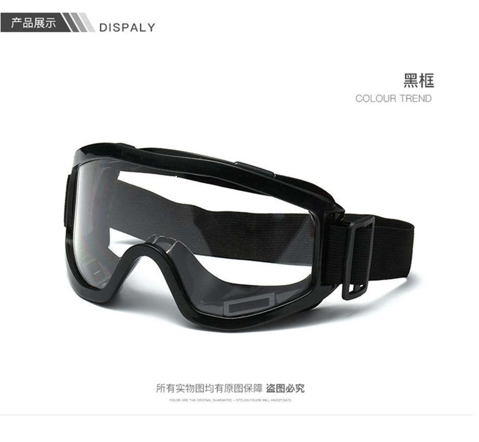 Black Motocross Goggles Oculos Motocross Off Road BMX Skiing Motorcycle Glasses Moto Airsoft Paintball Helmet Glasses