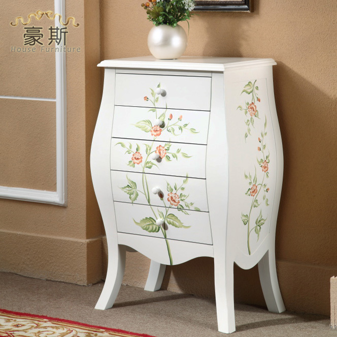 Package Home Delivery Downstairs Western Style Classical Rural Countryside  Painted Furniture Green Wood Chest Of Drawers Storage In Cabinet Catches  From ...