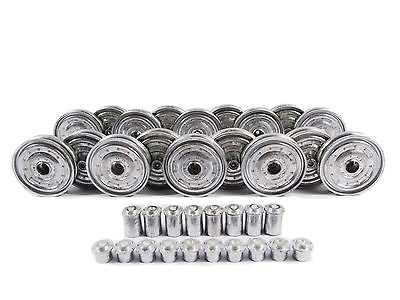 1/16 Kingtiger Metal Road Wheels With Bearings For HengLong MT202