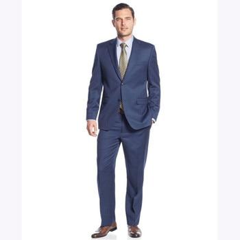 New Mens Suits Groomsmen Notch Lapel Groom men suit Tuxedos terno masculino 2017 Navy Blue wedding suits for men (Jacket+Pants)