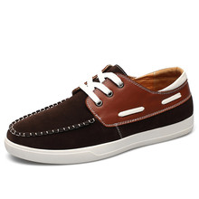 big size new boat shoes breathable comfortable moccasins men flats with nubuck leather lace up driving shoes for male c227 15