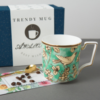 Classic retro antiquity white Bone China mugs with handle creative ceramic coffee cup couple gift free shipping