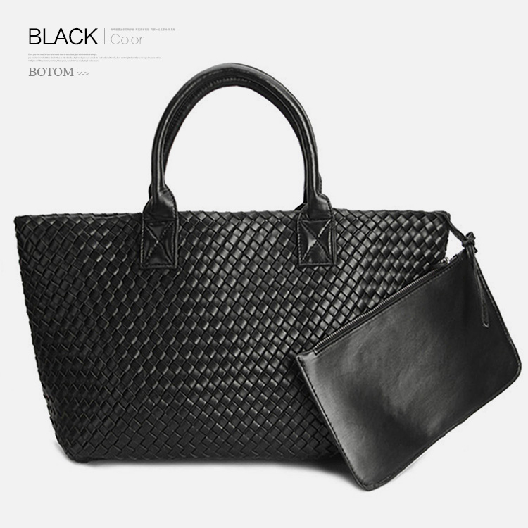 8e6f3c58ae Fashion Luxury premium faux leather WOVEN CABAT Tote Bag High Quality Handbags  Candy Color Women Shoulder bags Large Bag Purse-in Top-Handle Bags from ...