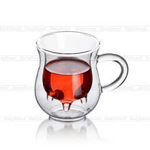 Viele 6.8fl.oz 200 ml Hitzebeständigem Glas Doppelwand Kuhmilch Tasse Becher W/Griff