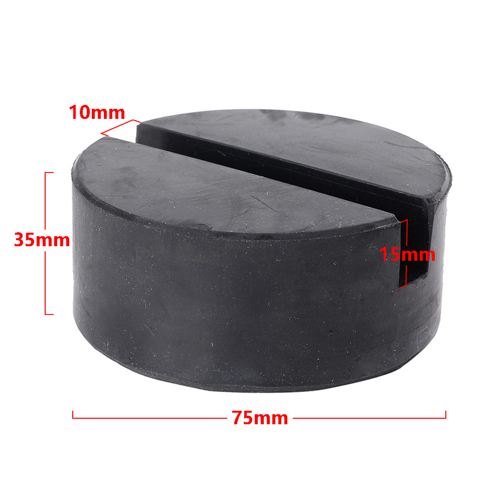 For Car Truck SUV Lifting Jack Rubber Pad Slotted Hydraulic Pad Black Universal 7.5*3.5cm