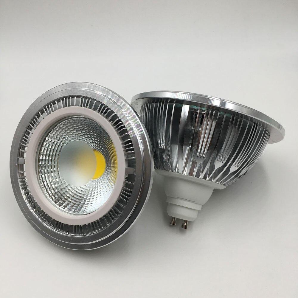 Trasporto libero AR111 18 w cob 7 w G53 lampada 9 w 12 w G53 LED 110-240 v 15 w ar111 ha condotto la lampadina ar 111 ha condotto la luce con GU10 di base