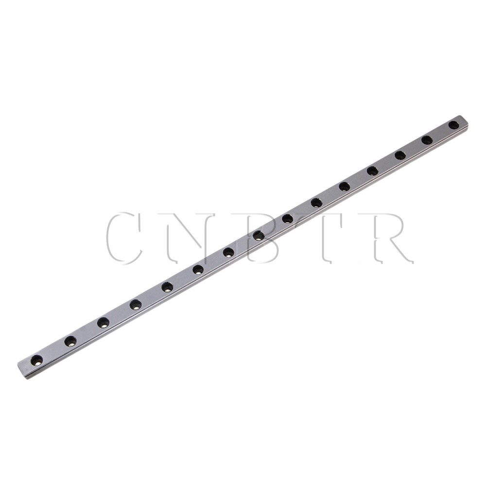 CNBTR 30cm Length MGN9 Bearing Steel Linear Sliding Guide Slide Rails Silver cnbtr 30cm length mgn7 bearing steel linear sliding guide slide rails silver