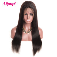 360 Lace Frontal Wig Peruvian Straight Wig Lace Front Human Hair Wigs With Baby Hair Remy Pre Plucked 360 Lace Wig ALIPOP
