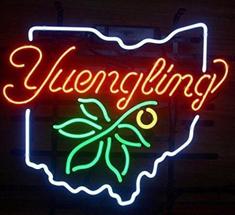 Custom Yuengling Ohio Glass Neon Light Sign Beer Bar