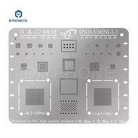 PHONEFIX Japan Steel WL BGA A5 A6 A7 A8 A9 CPU Reballing Stencils BGA Soldering Tool for iPad 2 3 4 5 6 iPad Pro Mini 1 2 3 4