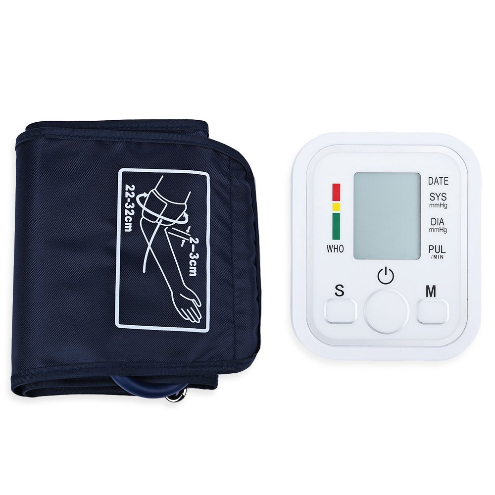 Arm Blood Pressure Monitor Health Care Arm Blood Pressure Pulse Monitor Health Care Digital Upper Portable Sphygmomanometer upper arm blood pressure monitor desktop type pulse meter auto inflate inflating deflate diflating