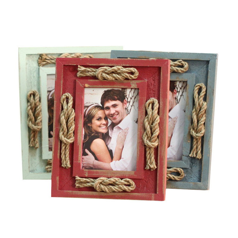 Retro Photoes Frame Wooden Make Old Pictures Frames