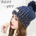 2016 New Winter Hat Korean Version of The Letter Patch Knitted Hat Miss Mao Xianmao Outdoor Autumn and Winter Hat