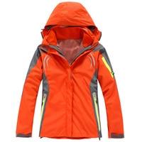 Women Hooded Warm Jackets Autumn Winter Thick Double Windbreakers Climbing Hiking Outdoor Sport Wear Training Outerwear