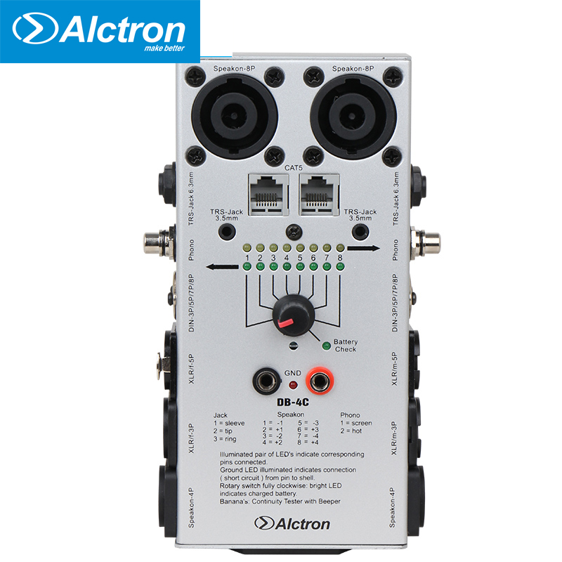 Alctron DB 4C Professional Cable Testers Audio network Cable Detector Tester test tool
