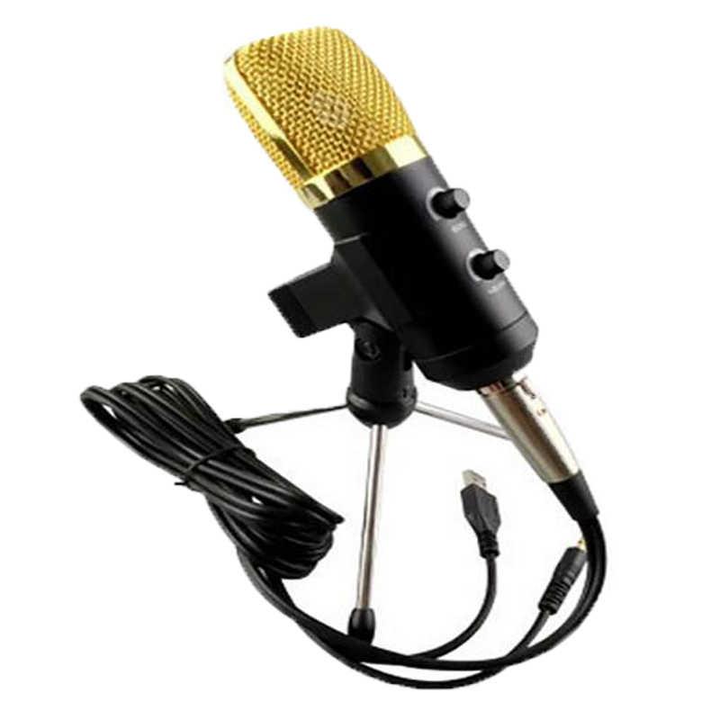 MK-F100TL проводной микрофон USB конденсаторный звук Запись микрофон с подставкой для чат пение караоке ноутбук Skype