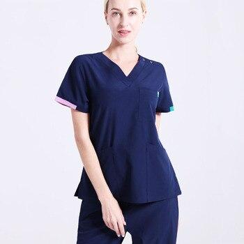 Signature Scrubs Nursing Uniforms Hospital Workwear Unisex Should Open Short Sleeve SPA Work Uniform Dentist Vet Scrub Suit
