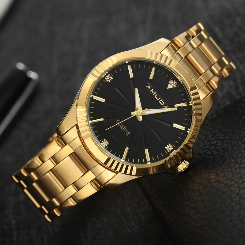 popular gold watch mens buy cheap gold watch mens lots from gold watch mens