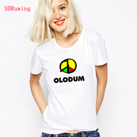 Michael Jackson Olodum Two Rock Music Band CD T Shirts Cotton Harajuku Casual Shirt White Top