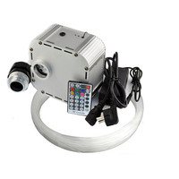 LED Fiber Optic Star Ceiling Lights Kit 400PCS 0 75mm 2m Optical Fiber 32W RGB 4