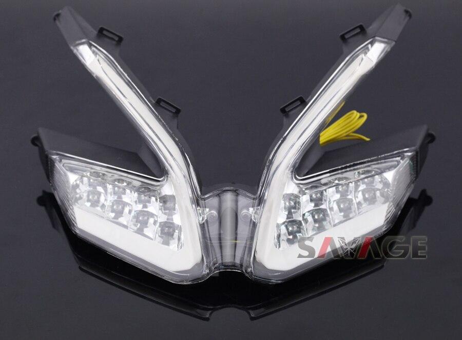 Для Ducati 899 959 1199/S/R 1299 panigale мотоцикл встроенный светодиод Задний фонарь поворотов мигалка лампа clear ...