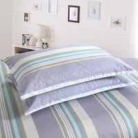 Tomada de cama listrado fronha 100% algodão cozy fundamento não desvanecimento meninos fronha capa 48cm x 74cm 30x50cm 48x120cm 2 peças|stripe pillow cases|pillow casestriped pillow -