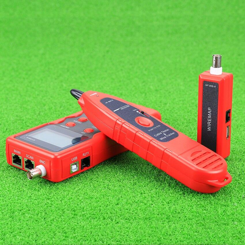 KELUSHI NF-868 testeur réseau LAN téléphone Tracker fil USB testeur de câble Coaxial (portée 1200 m)-rouge - 3