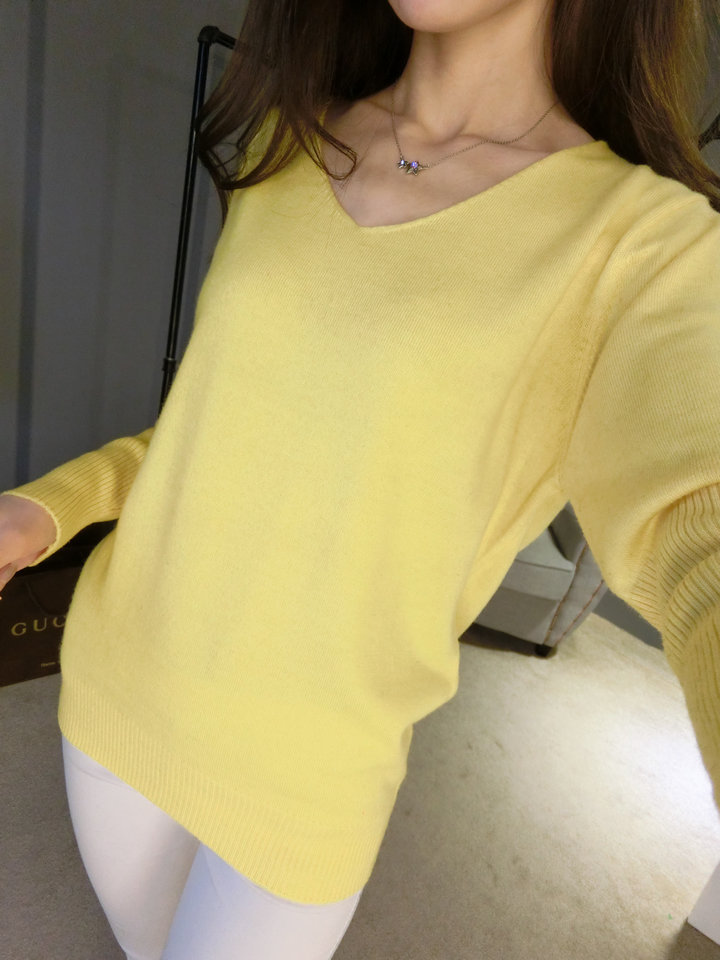 LOWEST-PRICE-Fashion-Women-s-Pullover-Sweater-Lady-V-neck-Batwing-Sleeve-Cashmere-Wool-Knitted-Solid (9)