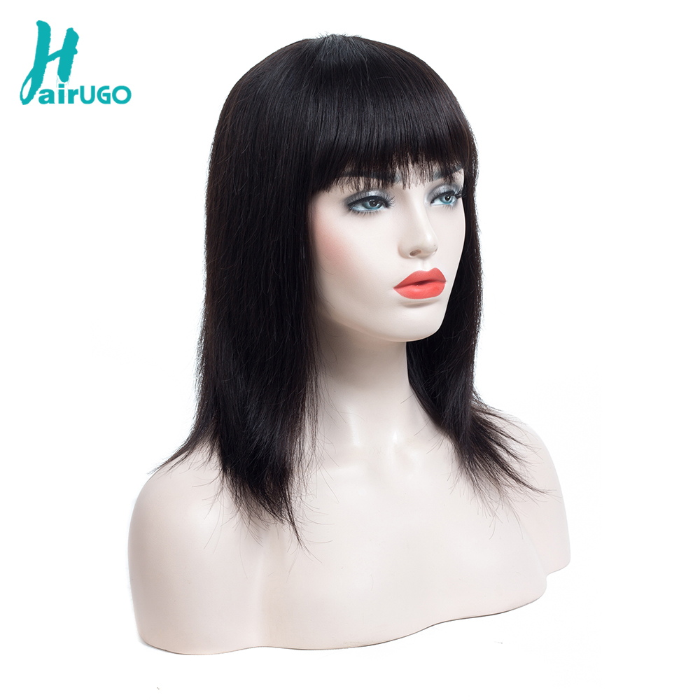 Peruvian Hair Short Bob Human Hair Wigs Ombre Color Lace Wig Straight Lace Frontal Wigs For Black Women HairUGo Remy Hair