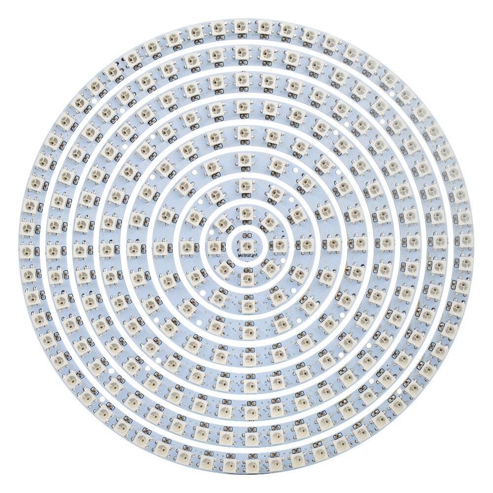 WS2812B кольцо 1 8 12 16 24 32 40 48 60 93 241 бит светодисветодиодный s WS2812B SK6812 5050 RGB светодиодное кольцо 5050 встроенное RGB адресуемое DC5V