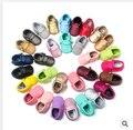 150 pairs al por mayor Nueva venta Caliente Lindo del color del caramelo Del Bebé niños Girls Toddler Suaves Del Bebé Niños Zapatos Mocasines 0-18 m