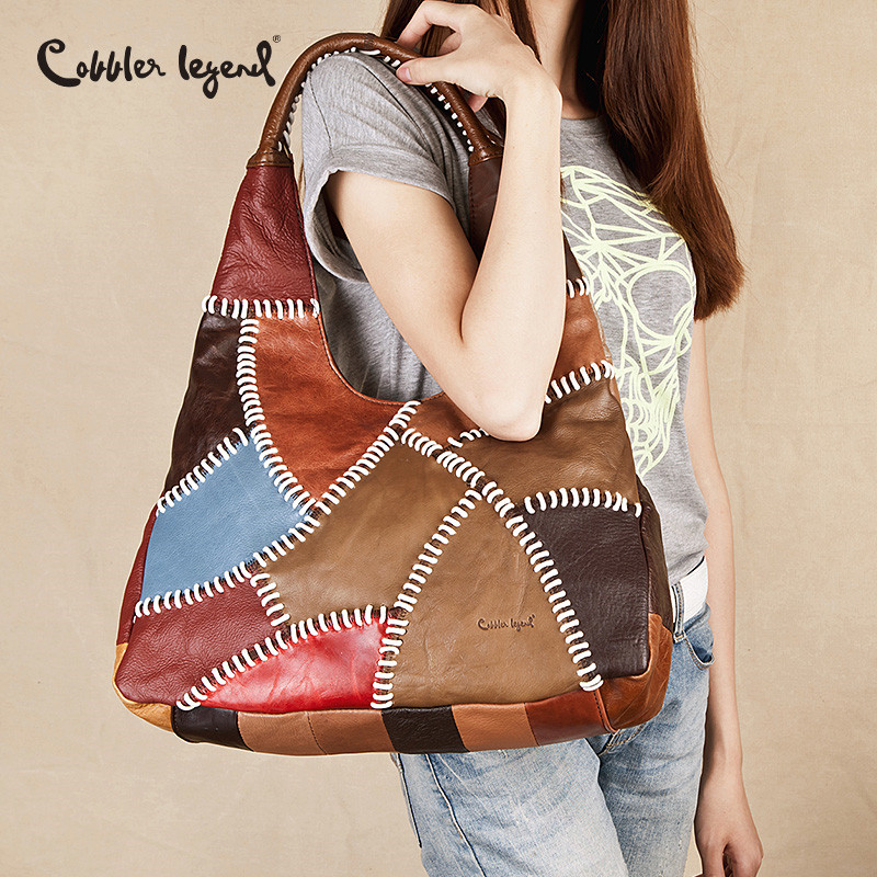 Cobbler Legend Designer Women Genuine Leather Handbags Summer High Quality Famous Brand Bag Female Shopping Lady