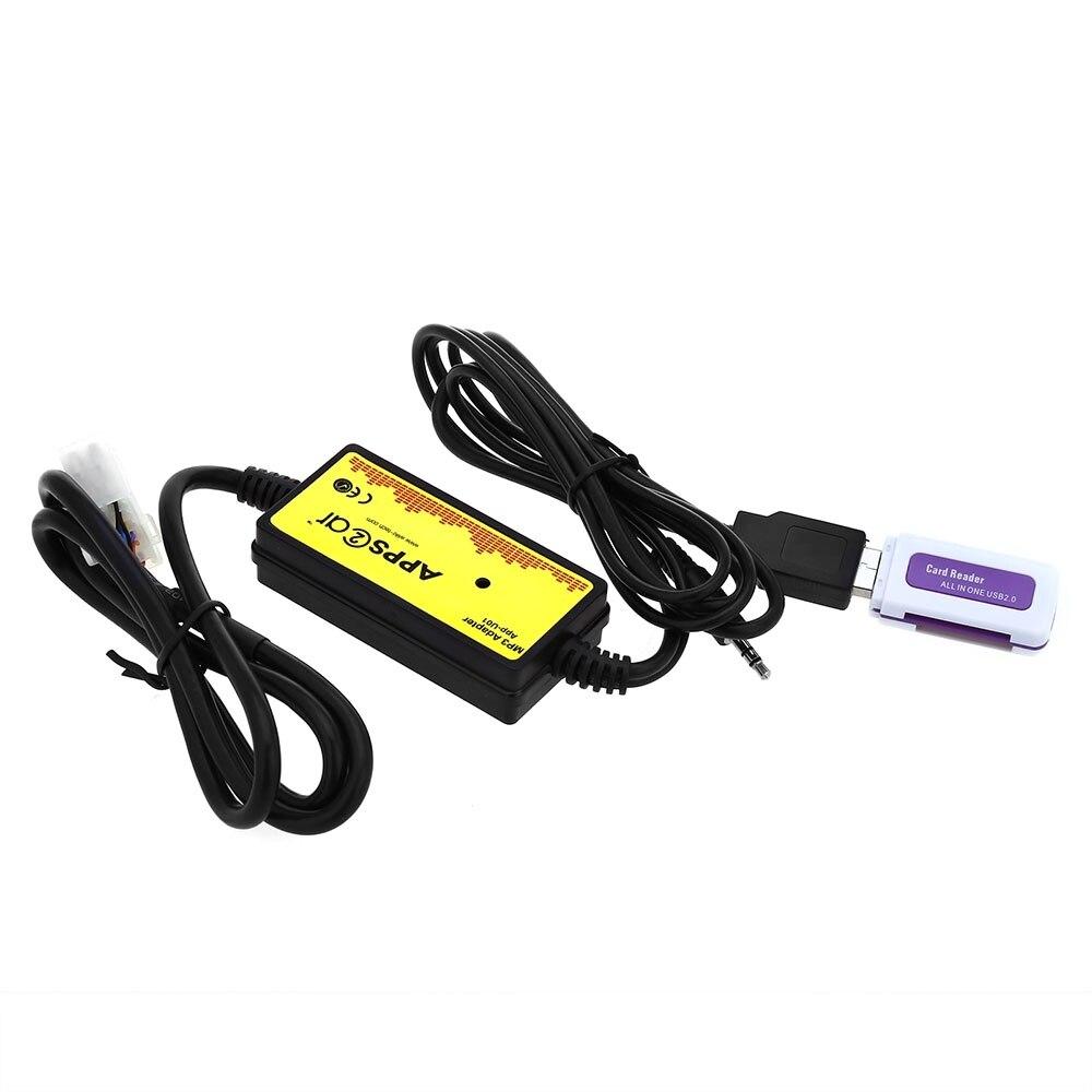 imágenes para DC 12 V Interfaz De Audio Del Coche MP3 USB Cable de Datos 12 P Conectar CD cambiador de SSD/SHSD/Mmc Y memoria USB juego para Toyota