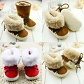 NEW 1pair cotton-padded First Walkers winter Warm prewalker Children snow Boots,Kid toddlers/Newborn Boy/Girl Baby Crib Shoes