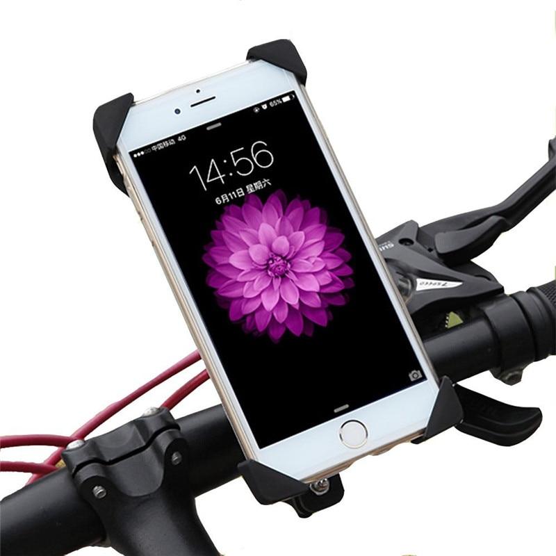 Support De Téléphone universel Vélo Anti-Slip Moto Vélo Téléphone Stand Support de fixation Pour iPhone 7 6 Samsung Xiaomi Tous Les Smartphone