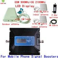 ЖК дисплей Дисплей 3g W CDMA 2100 мГц + GSM 900 мГц двухдиапазонный мобильный телефон усилитель сигнала, сотовый телефон ретранслятор сигнала + антен
