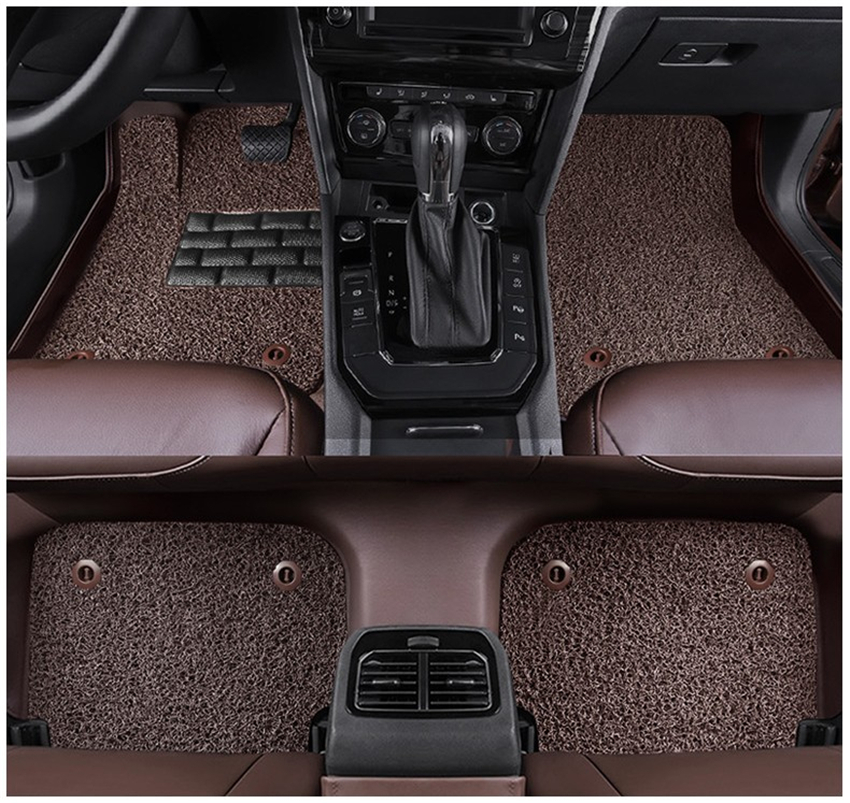 Auto Floor Mats For Land Rover Discovery 3 LR3 2005 2009 Foot Carpets Step Mat HighQuality Water Proof leather Wire coil 2 Layer