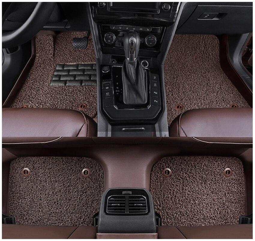 Tapis de sol Auto pour Land Rover Discovery 3 LR3 2005-2009 tapis de pied tapis de marche haute qualité étanche à l'eau fil de cuir bobine 2 couches