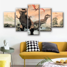 Canvas Painting Home Decor Wall Art Framework 5 Pieces Jurassic Park Dinosaurs Pictures For Living Room HD Prints Animal Poster elitera new fashion brand designer alloy sunglasses polarized mirror lens male oculos sun glasses eyewear for men