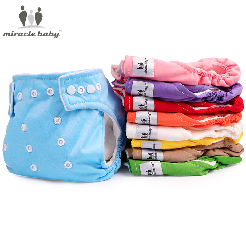 3pcs New baby Infant cotton reusable nappies washable diapers Girl Boy Swimsuits adjustable cover Cloth Diapers for newborns