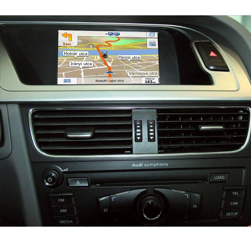 Carte gratuite GPS Navigation écran tactile voiture multimédia Interface vidéo avec Bluetooth pour AUDI A4 A5 Q5 2005-2015