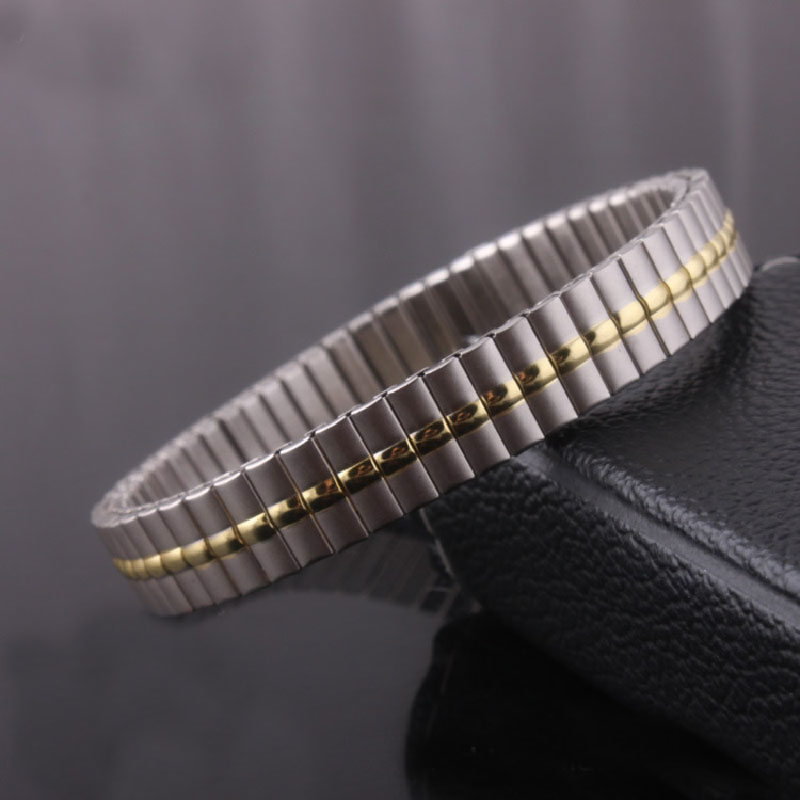 YYW Stainless Steel Jewelry Bracelet,Jewelry, plated, two tone, 9mm, Sold Per Approx 7.2 Inch Strand