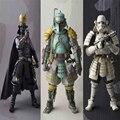 New Star Wars Boba Fett Darth Vader Stormtrooper Figuras de Acción Sic Samurai Taisho 17 cm Realización Anime Figuras de Star Wars juguetes