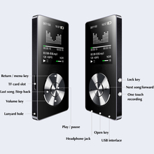 DOITOP 1.8inch TFT Screen MP3 Walkman HIFI Lossless MP3 Player FM Video E-book Recorder Clock 8GB Sport TF Expansion to 128G