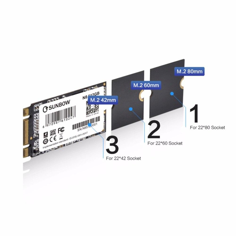 TC-SUNBOW disque dur SSD NGFF 512 M.2 2280mm disque dur à état Solide interne avec 3 ans de garantie pour ordinateur portable (N8 512 GB)