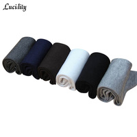 Lucidity Man S Socks Fashion Solid Color Comfortab In Tube Socks Men Casual Sweat Absorb Business