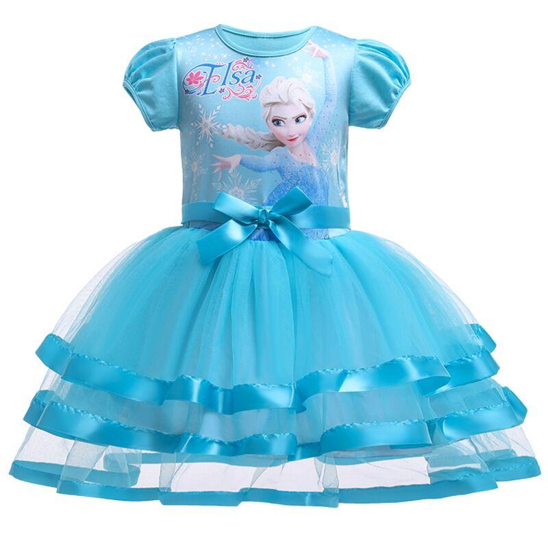Berngi-robe d'été en dentelle Elsa Tutu pour filles | Tenue cadeau de noël pour enfants de 2-8 ans
