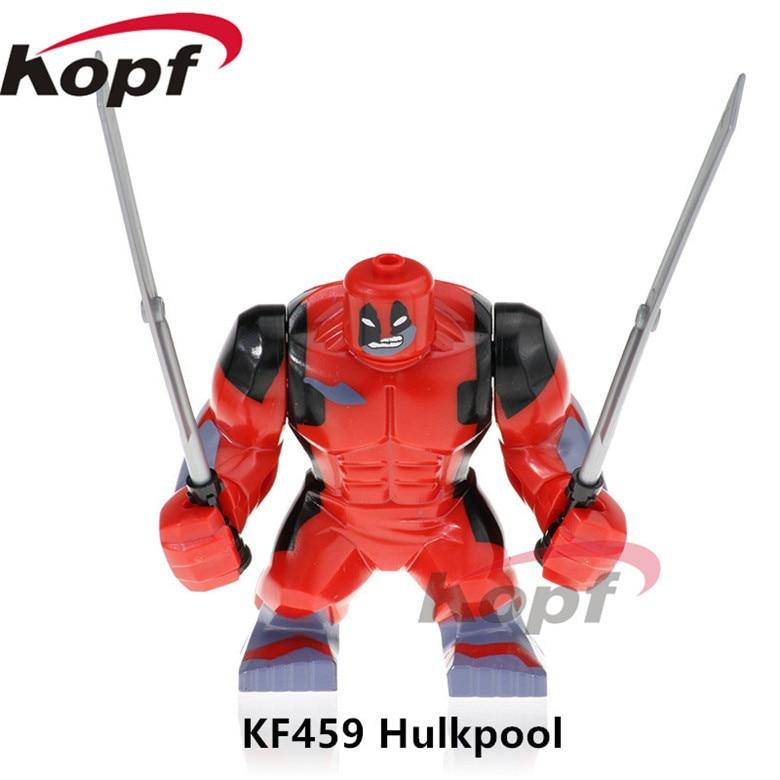 20Pcs KF459 Avengers 3 Infinity War Super Heroes Deadpool 2 HulkPool Thanos Hulk Bane Vision Building